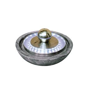 Kolkata Stainless Steel LED Lit Water Feature