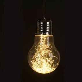 Giant Hanging Retro Light Bulb With Warm White LED's