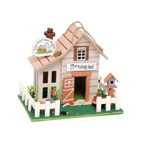 The Potting Shed Wooden Hanging Birdhouse
