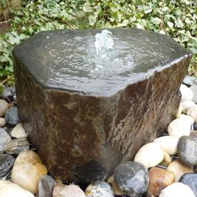 Natural Basalt Babbling Column Water Feature Kit