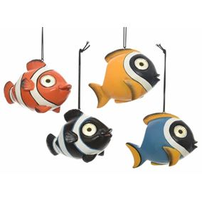 Set of 4 Solar Powered Tropical Fish Garden Lights
