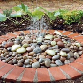 Pebble Fountain Water Feature Kit with Mains Powered Pump