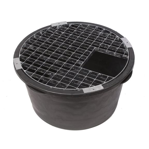 additional image for Heavy Duty Round Galvanised Steel Water Feature Grid (70cm )