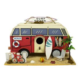 Surf Shack Wooden Hanging Birdhouse