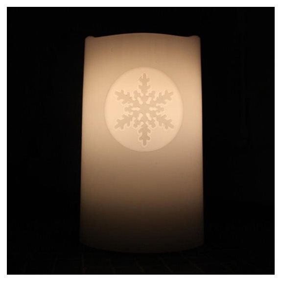 Snowflake Magic Dancing Water Feature Candle