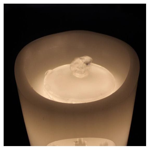 additional image for Snowflake Magic Dancing Water Feature Candle