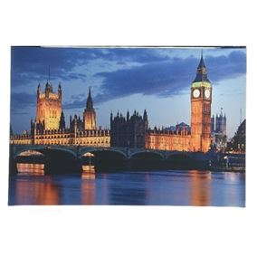 Westminster at Night London Scene Lit Indoor Wall Canvas