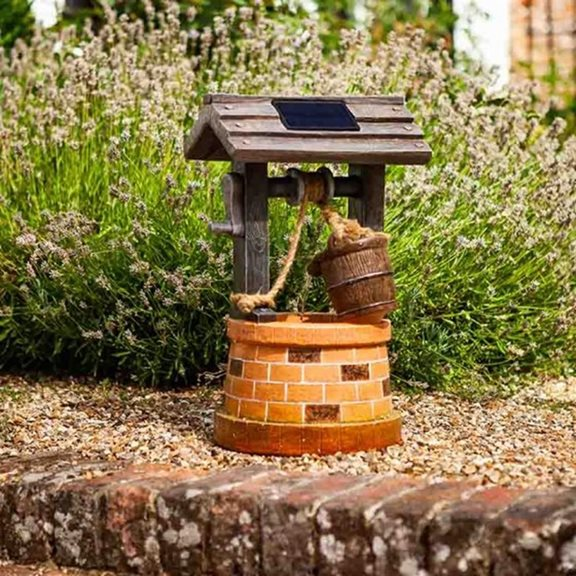 Wishing Well Traditional Solar Powered Garden Water Feature