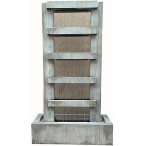 Savona Zinc Metal Rain Effect Water Feature